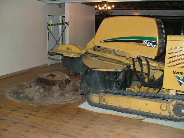 stump removal equipment