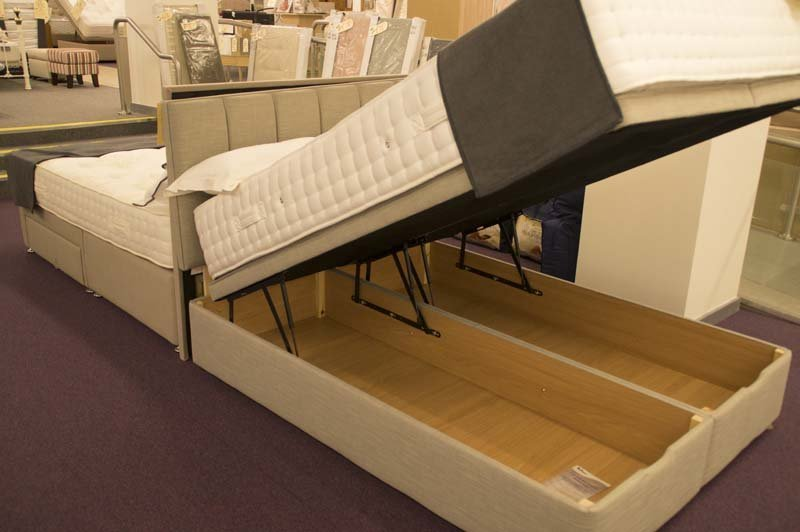 Bed with built in cupboards on sale at Clements
