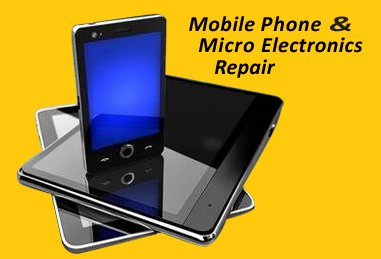 mobile phone and micro electronics repairs business logo
