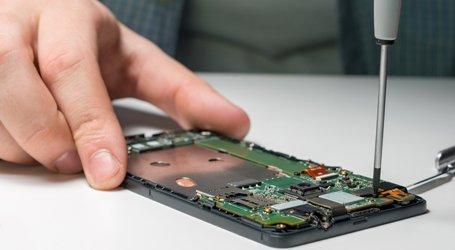 mobile phone and micro electronics repairs close view phone repair
