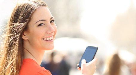 mobile phone and micro electronics repairs woman having phone