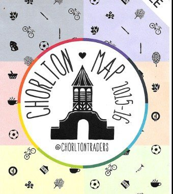 map, chorlton, lychgate, chorlton traders, icons,