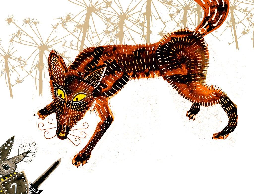 fox, mouse, pounce, folk tale,
