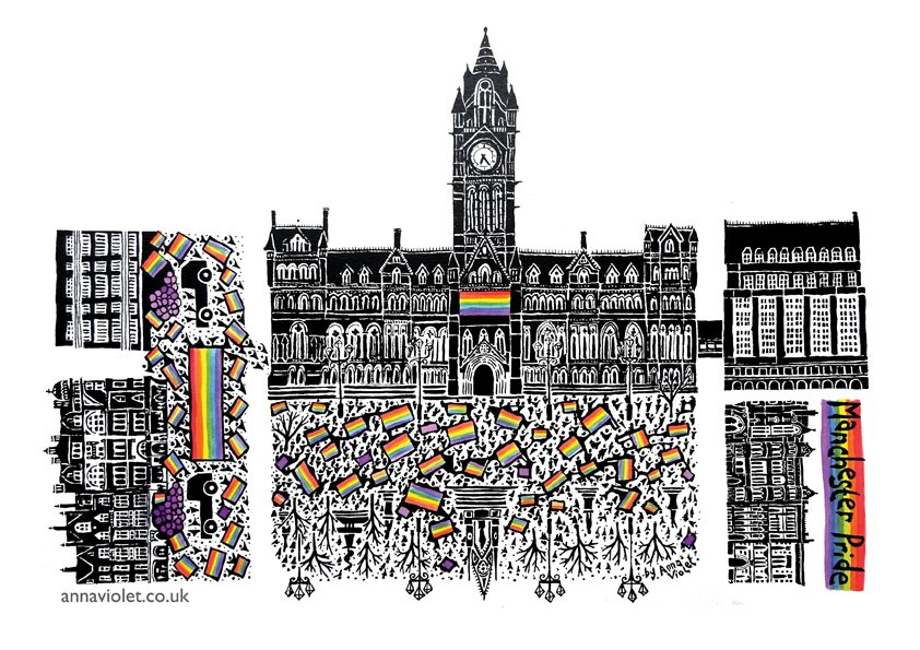 anna violet, black and white, manchester, lord mayor's parlor, gay, lbgt, lesbian, town hall, parade