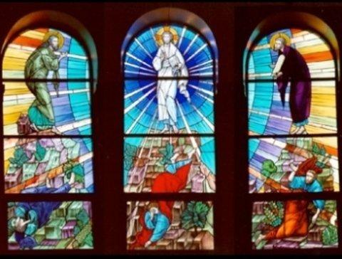 vetrate artistiche in fusione, vetrate per arte sacra