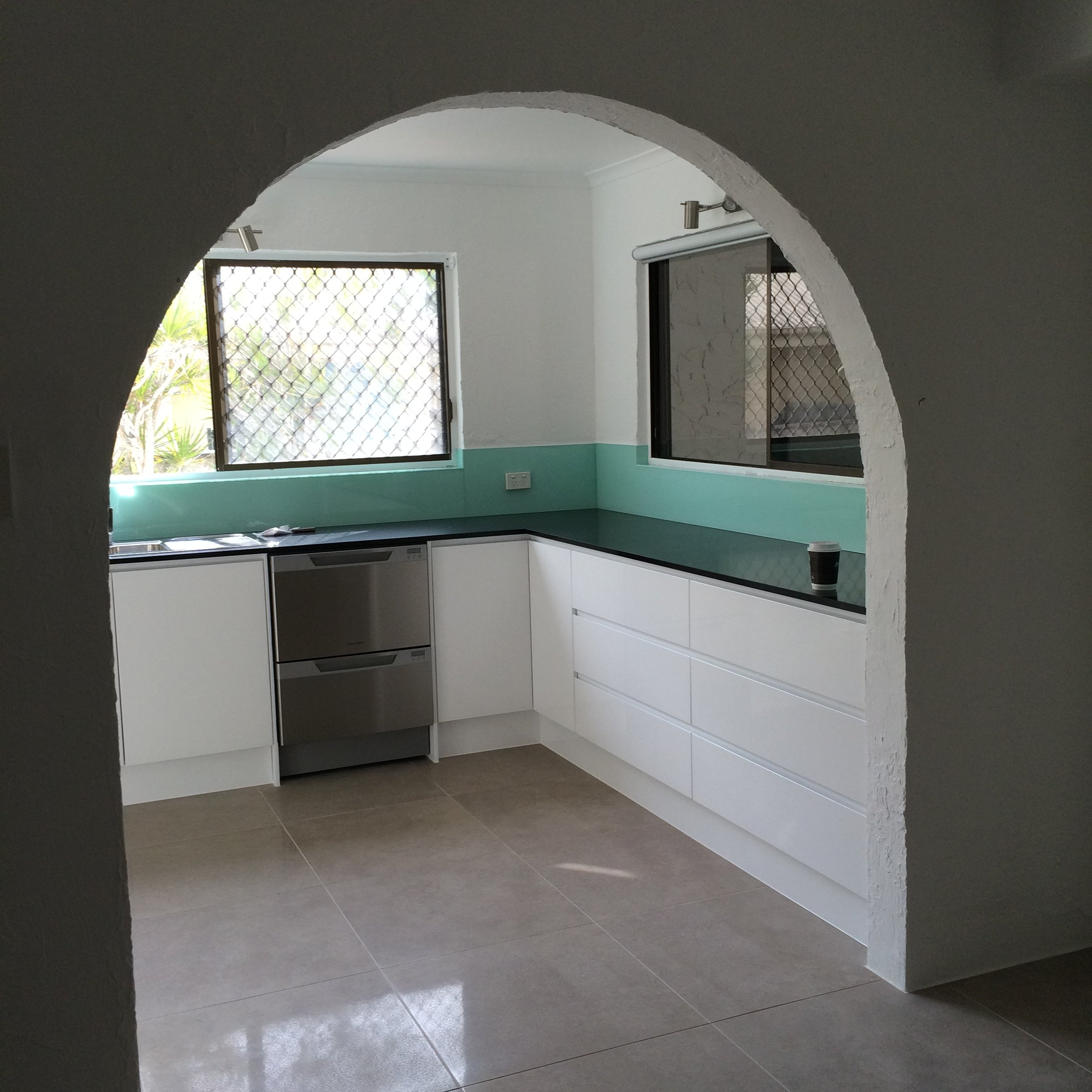 Interior view of the kitchen after renovation