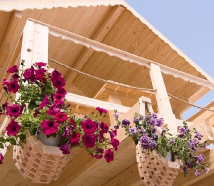 balconi in legno