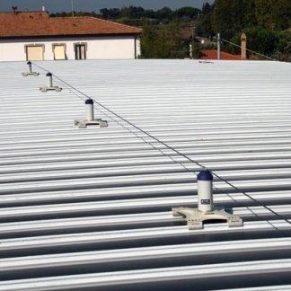 installazione di linee vita sul tetto
