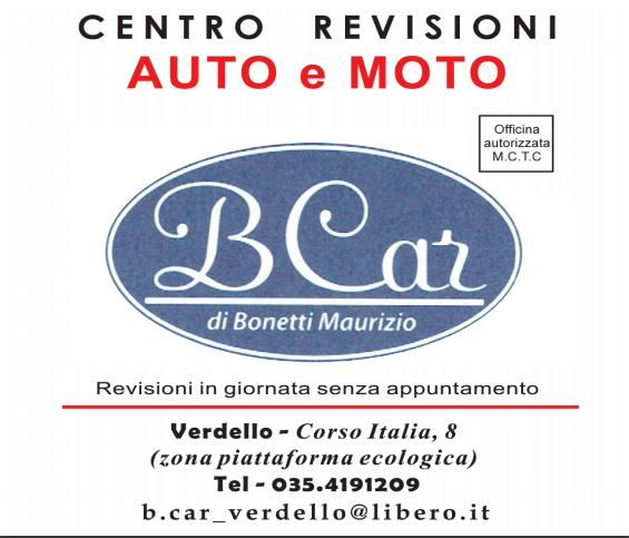 AUTORIPARAZIONI B.CAR CENTRO REVISIONI AUTO E MOTO - LOGO