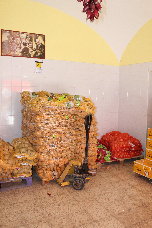 Magazzino di patate
