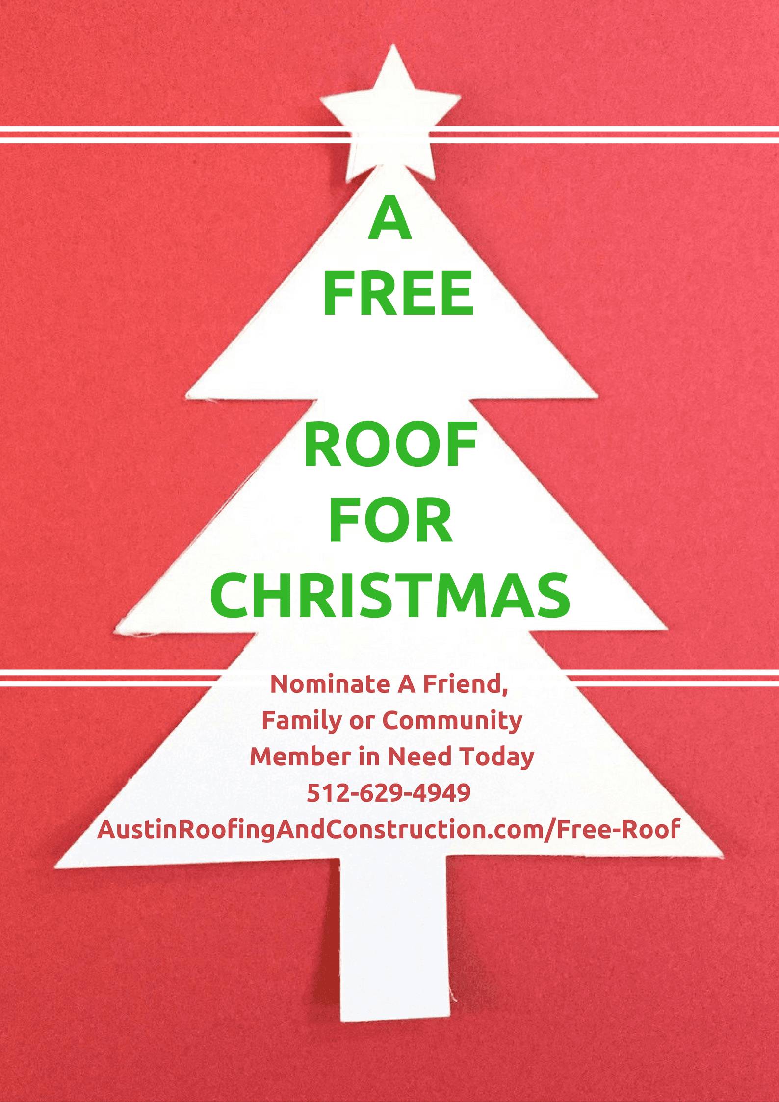A Free Roof For Christmas