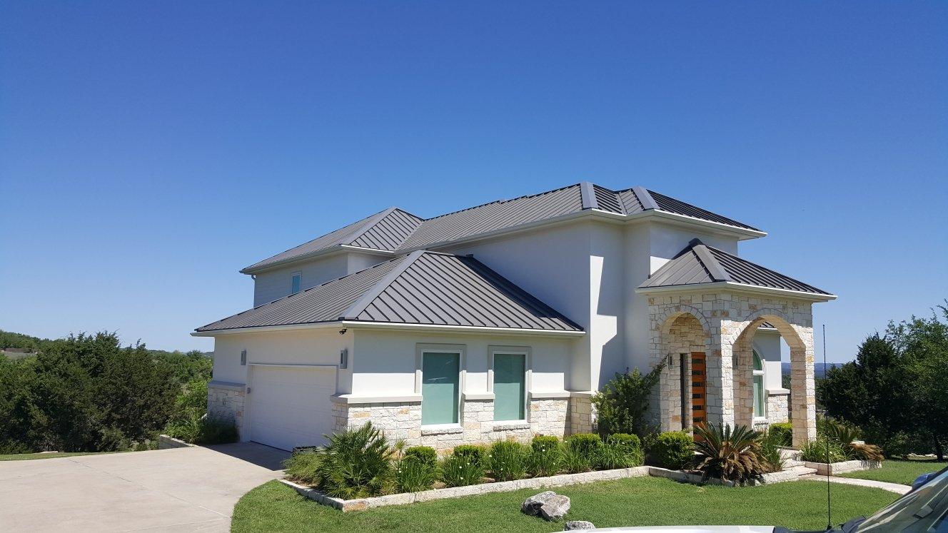 24 Gauge Snaplock Standing Metal Roof Color is Charcole