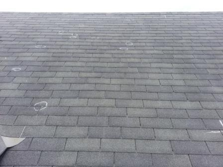 Hail Damage Shingle Roof Austin Roofing and Construction