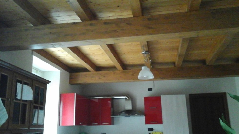 travi a vista soffitto