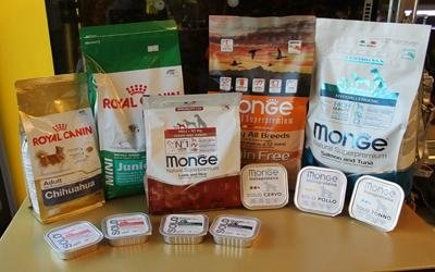 Prodotti alimentari cani
