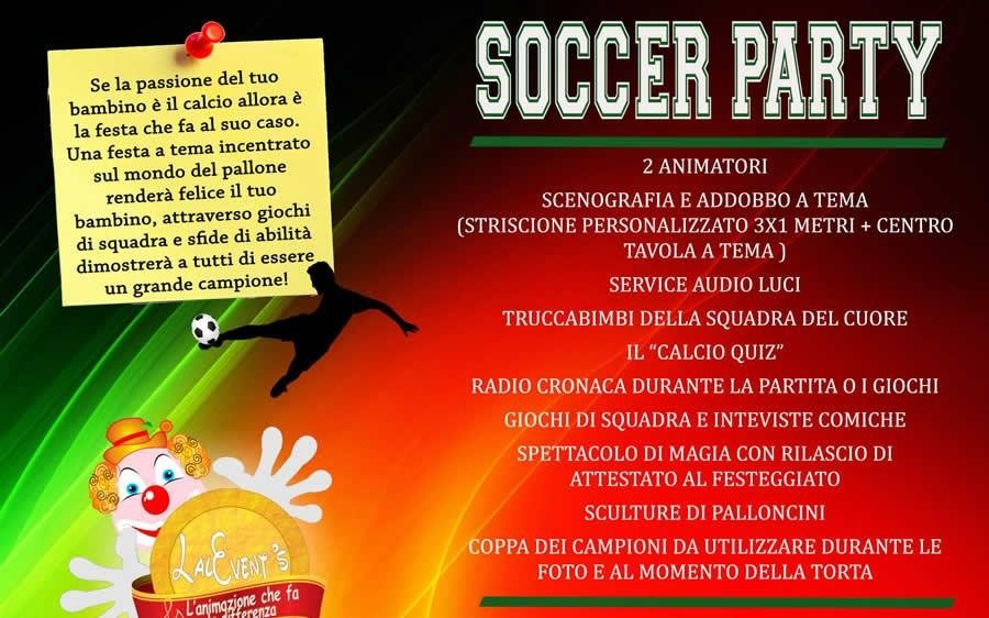 soccer party bari