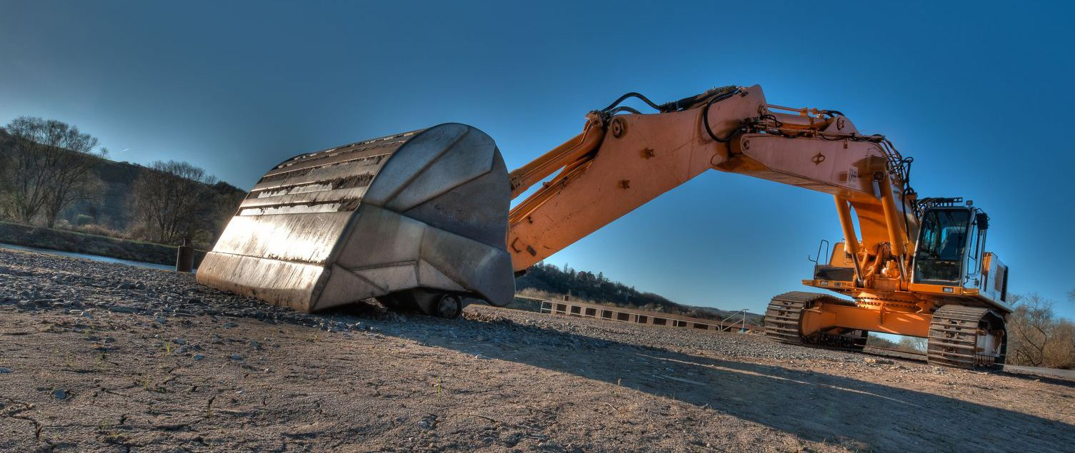 Earth moving machinery from our excavation company in Lexington, KY