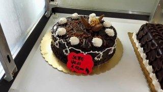 torta la cioccolato con meringhe