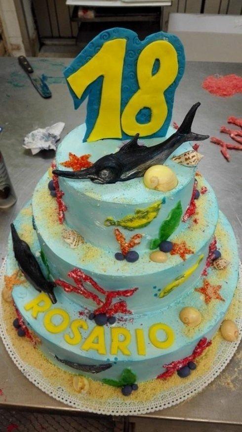 torta per 18 anni