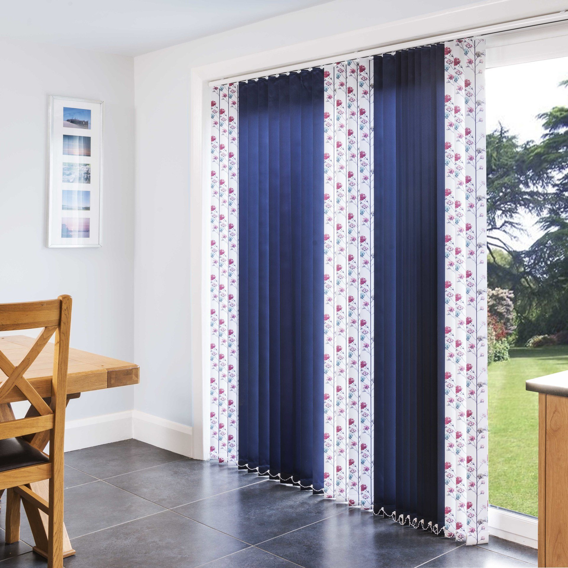 Spring time Berry vertical blinds