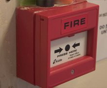 fire alarm panel in commercial building in kettering