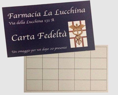 carta fedelta farmacia la lucchina