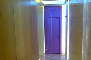 porta laccata viola