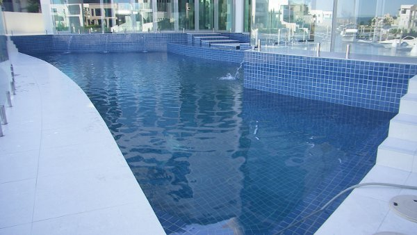 Sundollar Pools Tile and Glass Swimming pool construction in Gold Coast