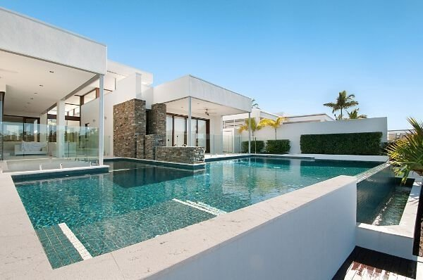 Fully tiled pool tile design ideas for Pool design gold coast