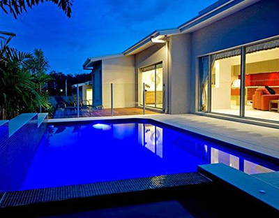 Evening view at Sundollar Pools servicing and maintenance in Gold Coast