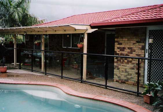 aus design fencing and balustrade and champagne pool fencing a swimming pool with thick black fence