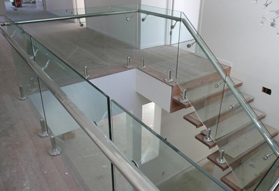 aus design fencing and balustrade and champagne glass pool fencing newly laid staircase