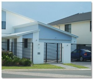 A home with aluminium fencing on the Gold Coast