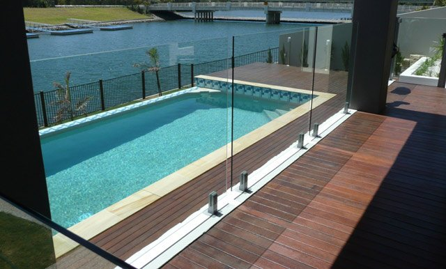 Glass pool fencing in brisbane on the gold coast for Pool fence design qld