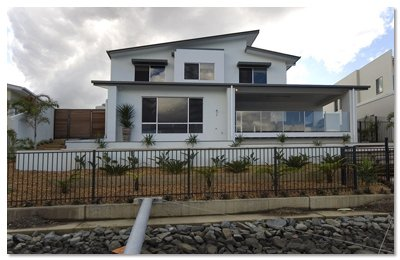 aus design fencing and balustrade and champagne glass handrails and fencing house with fence