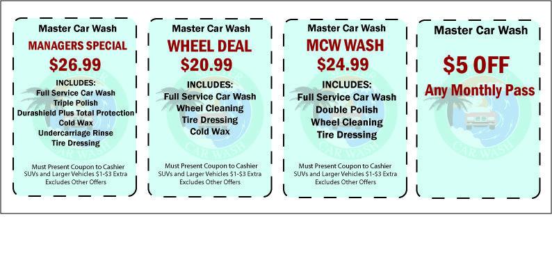 Master Car Wash >> Master Car Wash Coupons