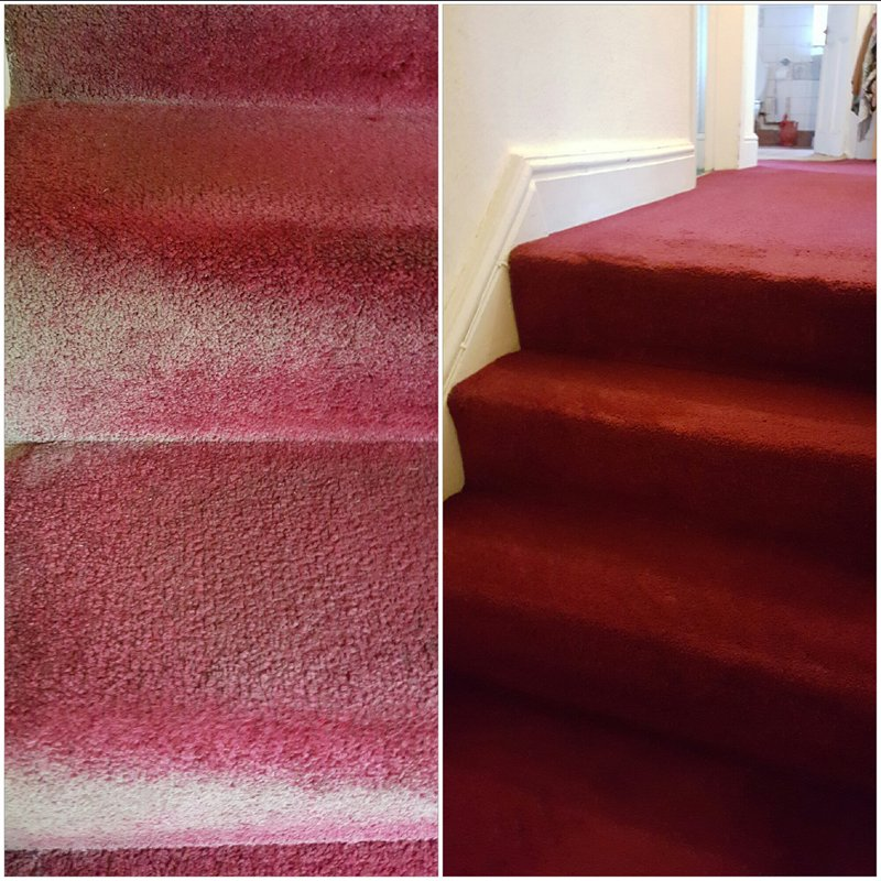 red coloured carpet flooring