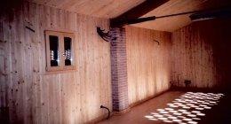 muro di legno per interni
