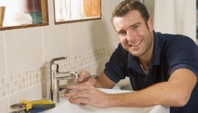 Plumbing maintenance work