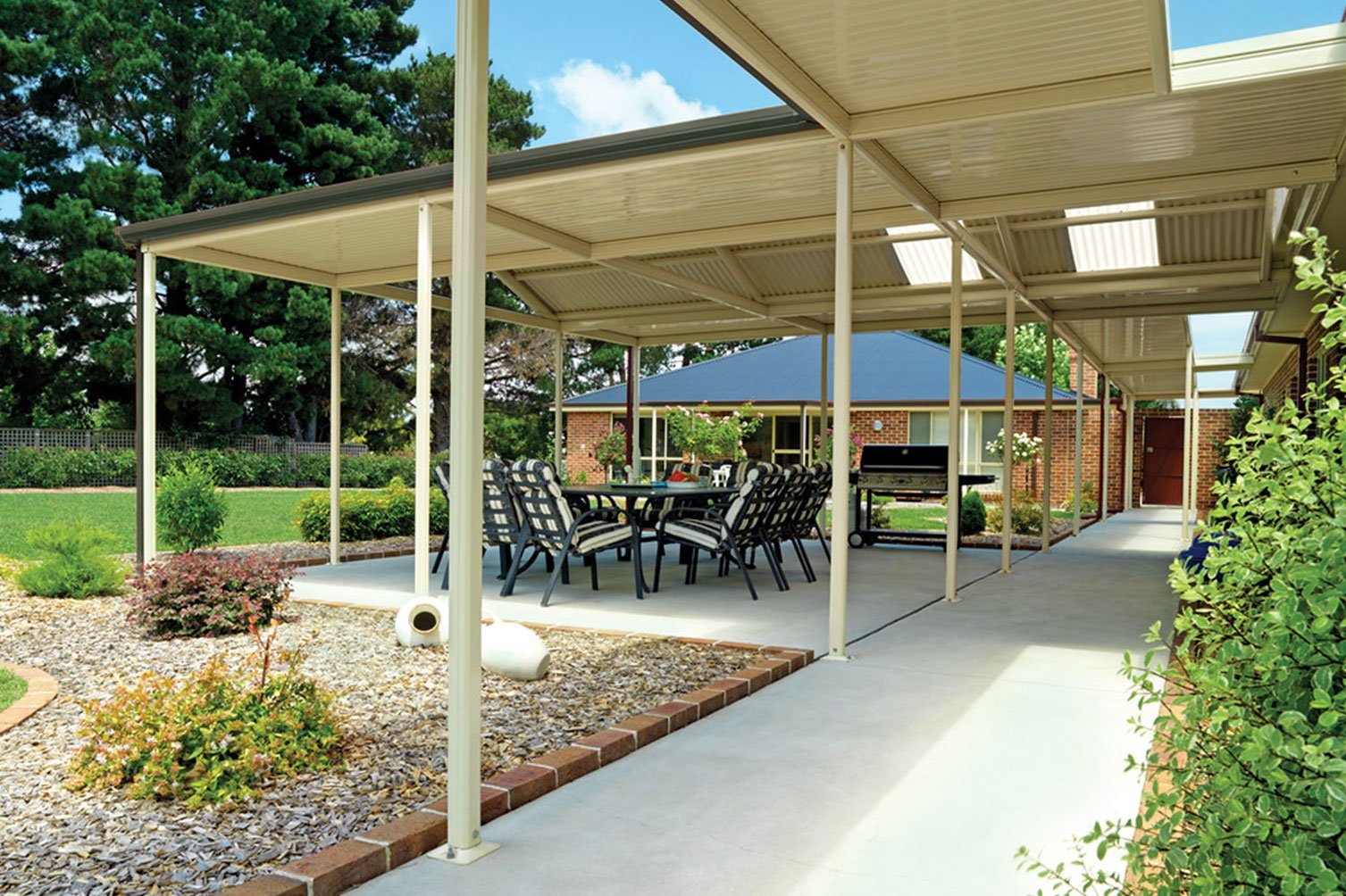The warmth of daylight when under the roof patio in Murwillumbah