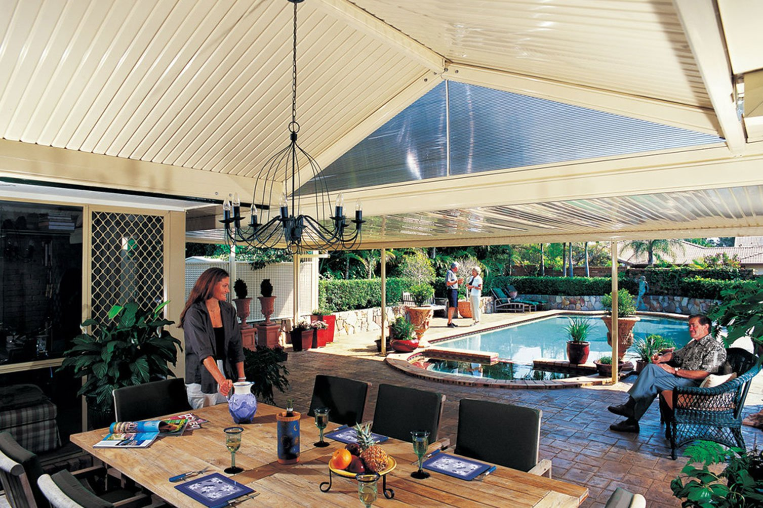 Fun-filled outdoor gatherings under a roof patio in Murwillumbah