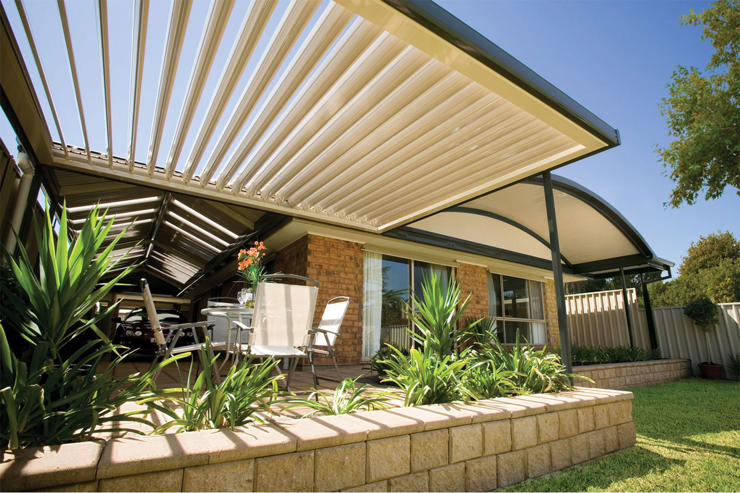 Patio builders says take pleasure as you enjoy outdoor living under the opening sunroofs in Kingscliff