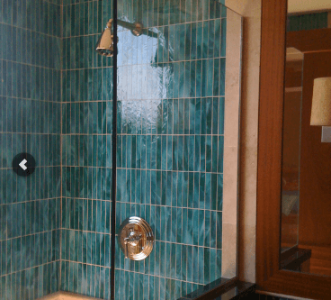 Shower door after glass installation and repair in Kailua-Kona, HI