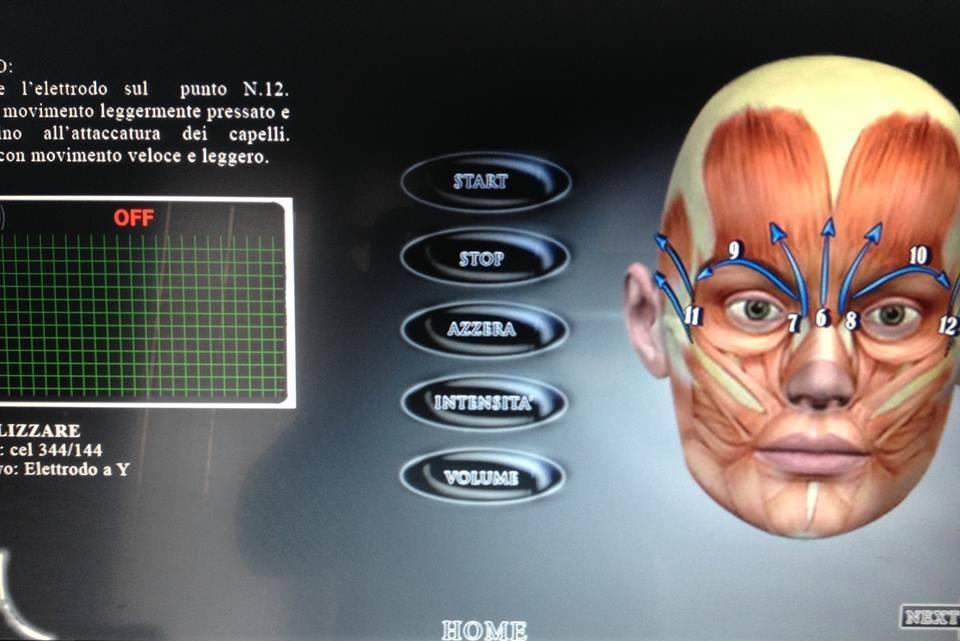 un'immagine digitale al computer di un volto