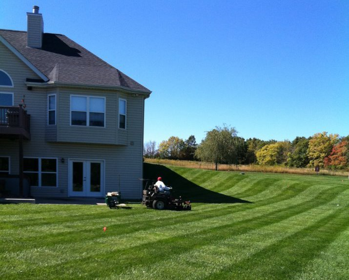 Lawn mowing in action in St. Charles, MO
