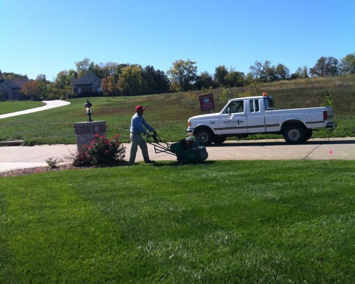 Our lawn fertilizer treatments in St. Charles, MO.
