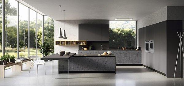 cucina finiture ed arredamento nero