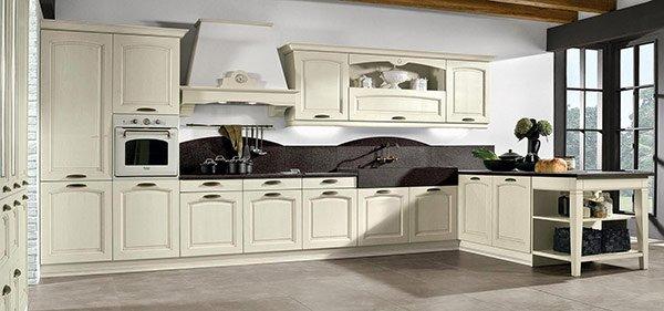 cucina bianca classica