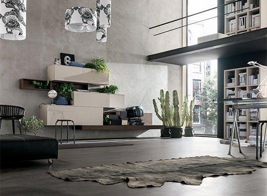 soggiorno moderno con tappeto