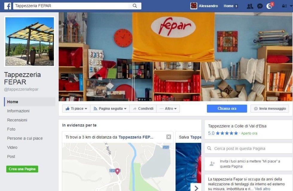 Pagina FB Tappezzeria Fepar